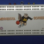 Ninnesota Gophers Cribbage Board