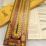 Vintage Drueke 2050 Hardwood Cribbage Board