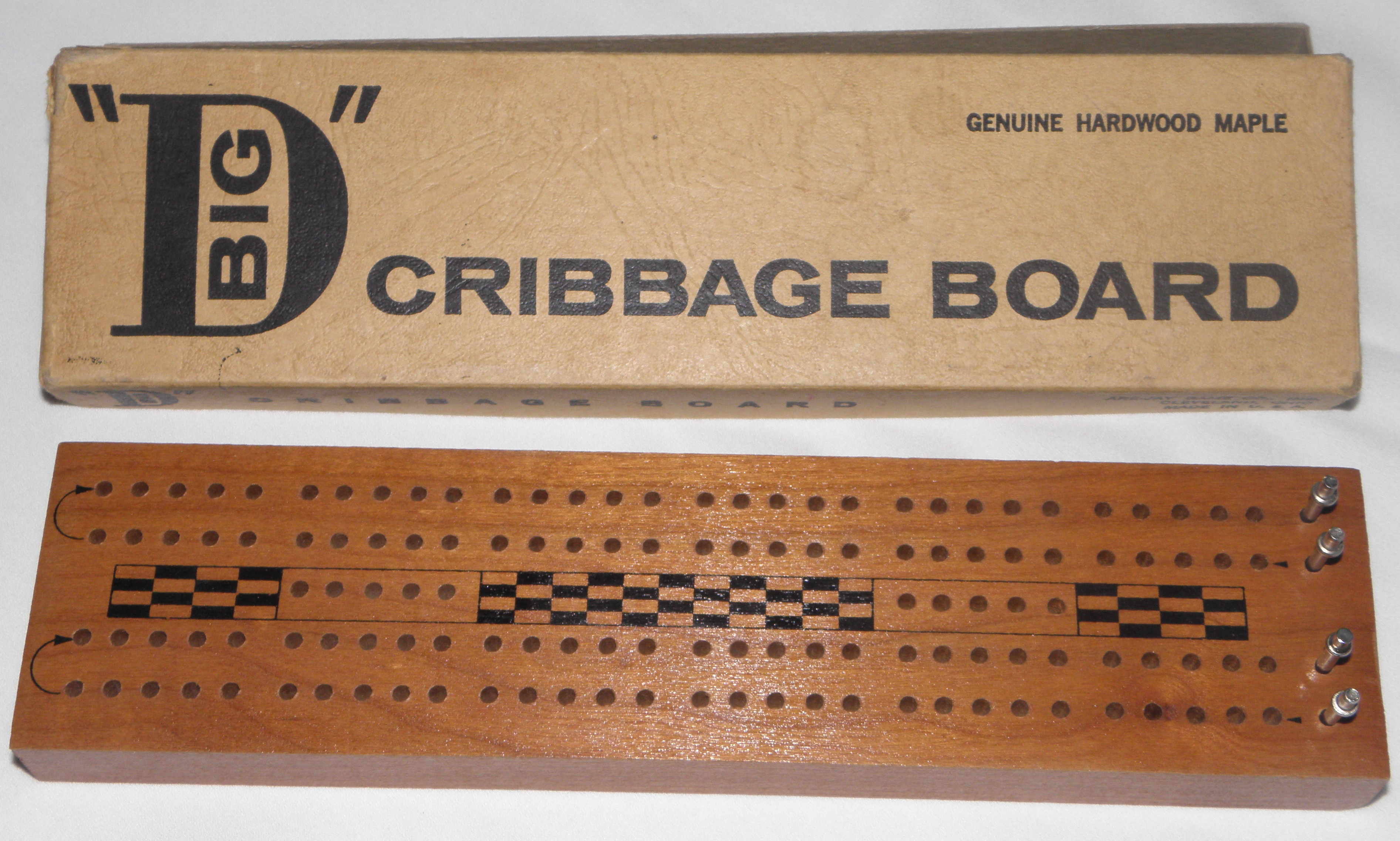 Crib boards for sale uk - Big D Cribbage Board By The Are Jay Company