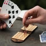 Walnut Studiolo Travel Cribbage Board Game