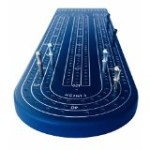 Oh Snap! Blue Anodized Billet Aluminum Cribbage Board.