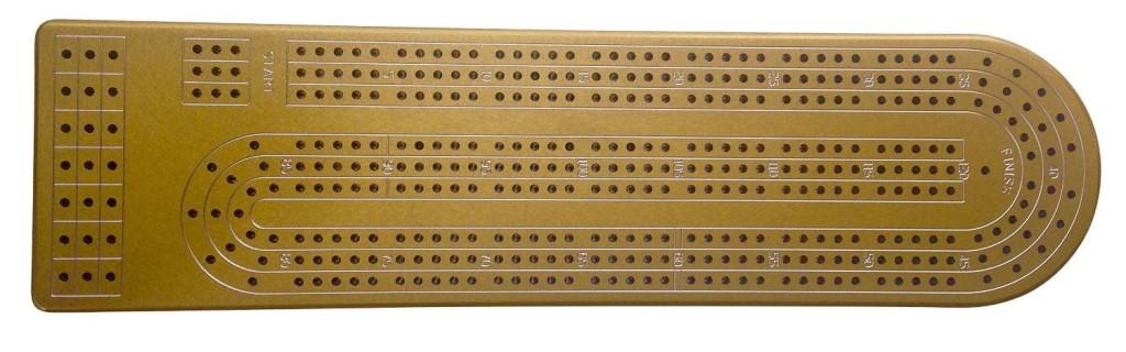 Gold-Anodized-Alumininum-Cribbage-Board
