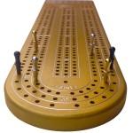 Superb Gold Anodized Billet Aluminum Cribbage Board.