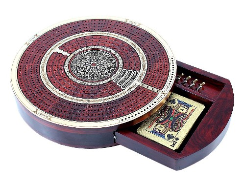 House of Cribbage Round Board Masculine
