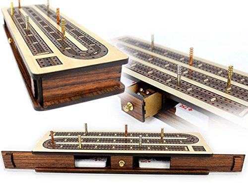 Number 1 on the list is the House of Cribbage 3-track, play to 121 continuous board with built in card storage, shown here. Click the Pic For Details