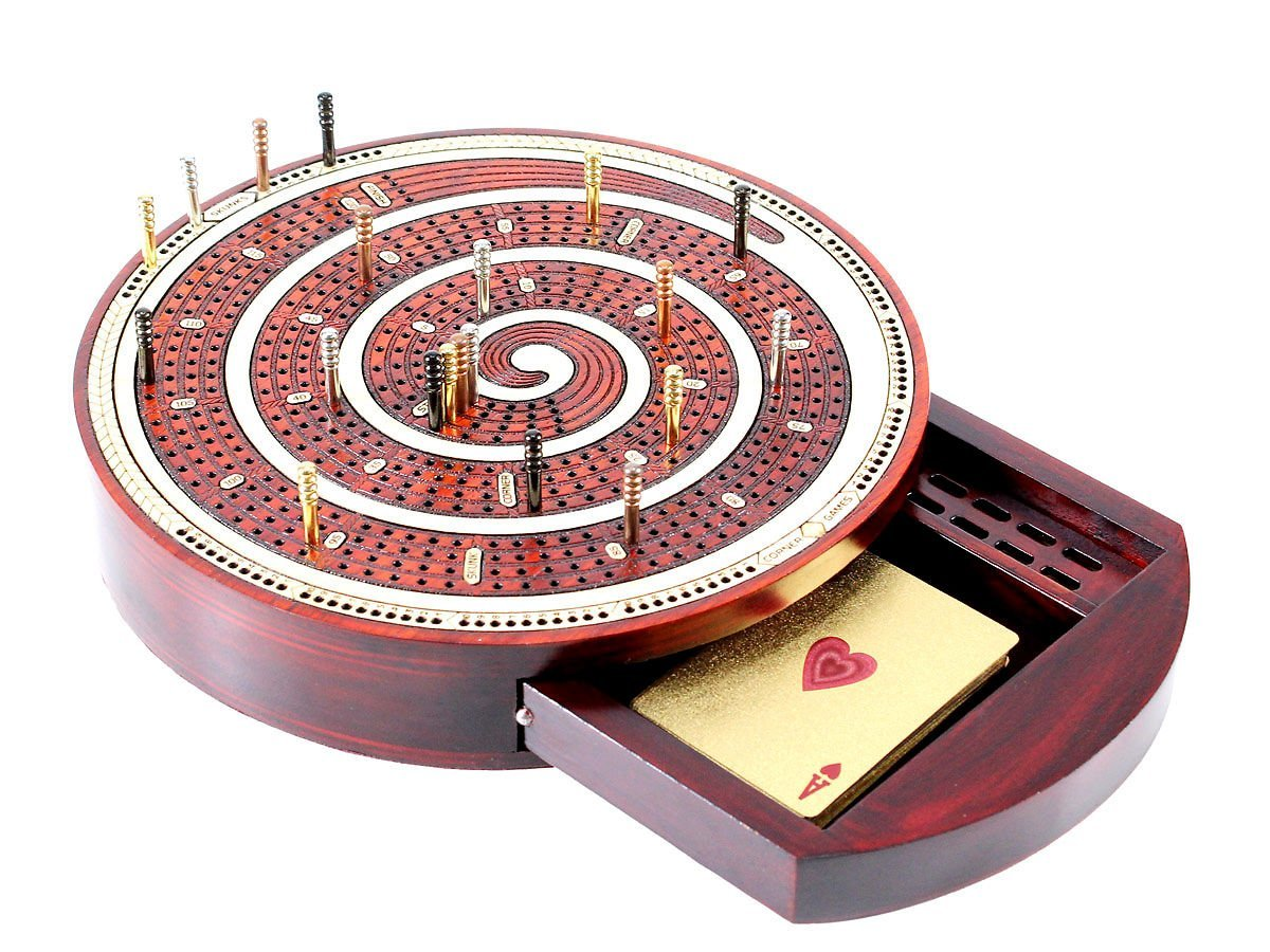 Crib boards for sale uk - Cribbage In The Round 5 Heirloom Quality Round Cribbage Boards