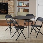 Perfect For Cribbage – Folding 5 Piece Table and Chair Set
