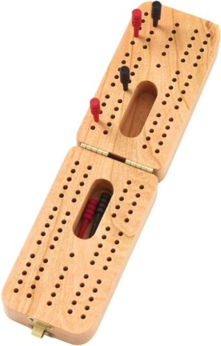 Crafted of Cherry Wood - Folding Standard Cribbage Board - Made in USA