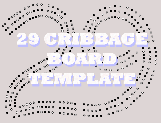 graphic relating to Printable Cribbage Board named 29 Cribbage Board Template