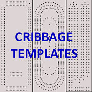 4 classic cribbage board templates you can download and print for Cribbage board drilling templates